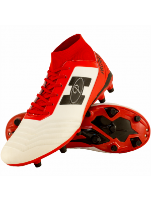 Premier Atletico SockFit Soccer Boot (Adults) - White/Red/Black