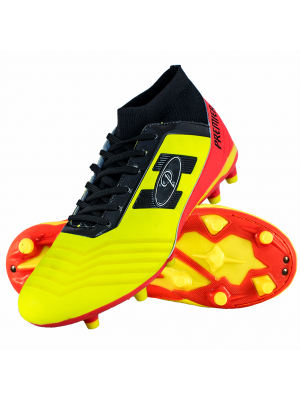 Premier Atletico SockFit Soccer Boot (Adults) - Yellow/Orange/Black